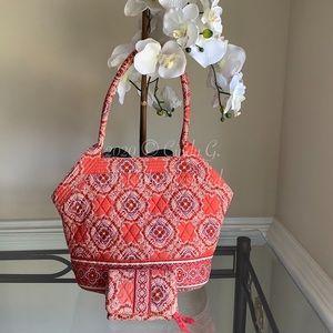 Vera Bradley Shoulder Bag & Matching Wallet